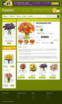 Flowers Most Popular website inspirations at your coffee break? Browse for more OpenCart #templates! // Regular price: $81 // Sources available: .PSD, .PNG, .PHP, .TPL, .JS #Flowers #Most Popular #OpenCart