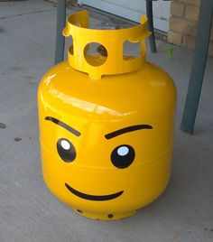 Lego Head Grill Propane Tank Kit. $10.00, via Etsy... order and change out with every new helium tank.
