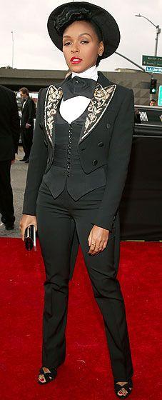 Janelle Monae at the 2013 Grammy Awards
