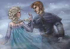 """You know your place by Alassa.deviantart.com on @deviantART - Elsa and Hans from """"Frozen"""". From the artist's comments: """" I know they're wearing the clothes from the final scene and I know the whole picture looks like from the final scene. But it's not. It should be after many years."""""""