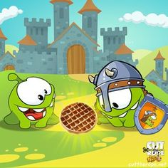 Om Nom may be on a mission to find his ancestor, but, that isn't stopping him from enjoying all of the amazing sweets that the Middle Ages have to offer! After trying them all, Om Nom's favorite medieval candy is... WAFFLES! Like this post if you agree with his choice. * iPhone or iPod touch: http://itunes.apple.com/app/id608899141 * iPad:  http://itunes.apple.com/app/id608901634 * Google Play: http://play.google.com/store/apps/details?id=com.zeptolab.timetravel.paid.google #cuttherope #time…