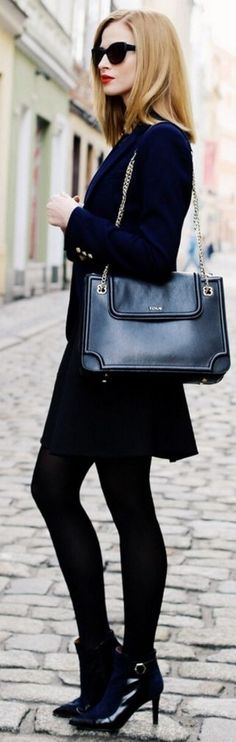 Dress - The House of Fluff, necklace - Sotho, jacket - zara, bag - tous, glasses - caroline abram || Small Black / Two Daily Styling ||Beauty Fashion Shopping  shoes - sarEnza #dress