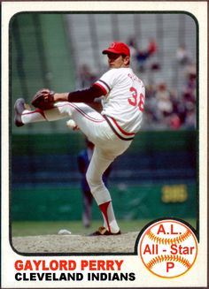 1973 Topps Gaylord Perry All-Star. Baseball Cards That Never Were, Cleveland Indians