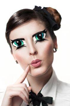 Anime Eyes - Look/Inspiration/Tutorial Fun Halloween makeup idea! #halloween #makeup #ideas #tutorial #colorful