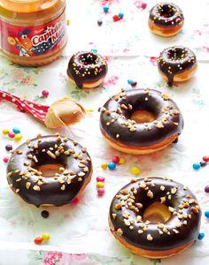OBSESIÓN CUPCAKE: Donuts horneados de mantequilla de cacahuete y chocolate