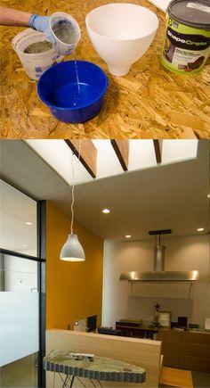 Lámpara DIY con hormigón y molde de ikea - IKEA Hack DIY Concrete Pendant Lamp