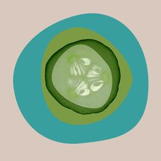 September Cucumber by Irena Orlov Painting Print on Wrapped Canvas