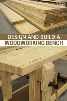 Design and Build a Woodworking Bench - This is an article about building a work bench. You see, a work bench gives your endeavors a home and that is an important thing to have. It gives you a place to work on projects and store tools. Learn Woodworking, Woodworking Workbench, Easy Woodworking Projects, Popular Woodworking, Woodworking Furniture, Wood Projects, Youtube Woodworking, Woodworking Machinery, Woodworking Techniques