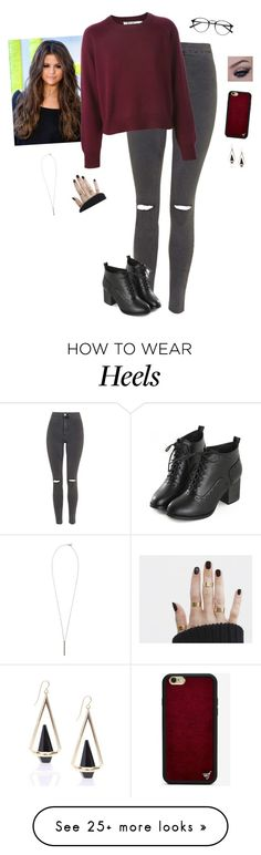 """Starbucks Break"" by hanakdudley on Polyvore featuring moda, Topshop, Wildflower ve French Connection"