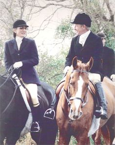 Great Meadow Founder  Arthur Arundel with Jackie Onassis  Foxhunting, Orange County Hunt, 1990, Great Meadow