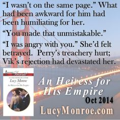 "Vik & Maddie have more than just the present to overcome, if they are going to make their relationship work. ""An Heiress for His Empire"" by Lucy Monroe Ruthless Russians Book 1 #bookteaser"