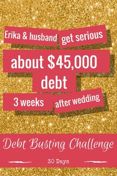 Day 11 Debt Payoff Inspiration Story: 3 weeks after their wedding, Erika & her husband sat down and figured out they were $45,000 in debt. They experienced several setbacks in their debt payoff journey, such as living on one income while her husband went to fire academy full-time for four months, and various other periods of underemployment/self-investment for the future. Forty-five months later, they're debt free. Join the 30-Day Debt Payoff Challenge…
