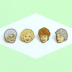 The Golden Girls Enamel Pin Pack by yousillyduffer on Etsy https://www.etsy.com/listing/463073295/the-golden-girls-enamel-pin-pack