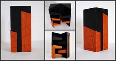 "Leather box ""Tower"" designed and handmade by Jaanika Aadamsoo"