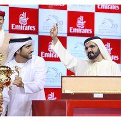 Hamdan bin Mohammed bin Rashid Al Maktoum y Mohammed bin Rashid bin Saeed Al Maktoum, DWC, 28/03/2015. Vía: hhsheikhmajid
