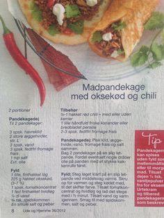 madpandekage med oksekød og chili