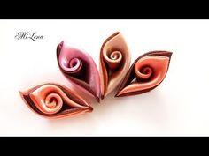 How to Make Flowers Petals / Kanzashi Flower Petals Tutorial / DIY Flower Petals - YouTube