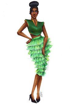 Tiana (Modern Fashion by ZyraBanez @deviantART) #ThePrincessAndTheFrog
