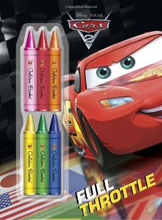 Full Throttle (Disney/Pixar Cars) (Deluxe Chunky Crayon Book) @ niftywarehouse.com #NiftyWarehouse #Disney #DisneyMovies #Animated #Film #DisneyFilms #DisneyCartoons #Kids #Cartoons