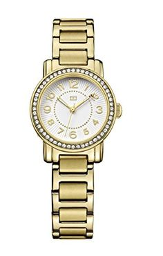 Tommy Hilfiger Women's 1781477 Antique Gold Stainless-Steel Analog Quartz Watch * Details can be found by clicking on the image.