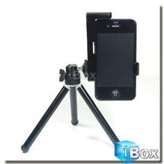 Mini Adjustable Tripod + camera holder for iPhone. Clever