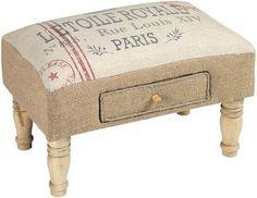 Vintage Style Parisian Ottoman Foot Stool Drawer Paris Shabby French Chic New | eBay