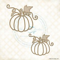 "These 2 adorable Pretty Pumpkins measure 2.75x2.45 and 3.45x3.05"".  So perfect for your fall projects!"