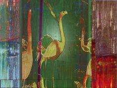 """'Kachel """"Entwurf 1 Schild Flamingobar""""' von Rudolf Büttner bei artflakes.com als Poster oder Kunstdruck $18.71"""