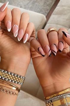 Edgy Nails, Dope Nails, Stylish Nails, Swag Nails, Trendy Nails, Almond Acrylic Nails, Best Acrylic Nails, Almond Nail Art, White Almond Nails