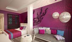 Club Med Yasmina - Maroc  Vaste chambre à la décoration raffinée pour vous relaxer face à la mer depuis votre espace salon ou sur votre grand balcon aménagé.
