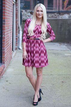 Magnolia Boutique Indianapolis - Belted Missoni Dress - Mauve, $39.00 (http://www.indiefashionboutique.com/belted-missoni-dress-mauve/)