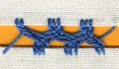 Plaited Cretan stitch