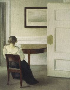 Interior (Ida reading, white blouse), 1893. Vilhelm Hammershøi (Danish, 1864– 1916).