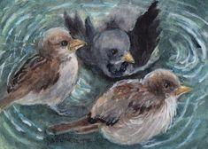 New #artcard (#ACEO / #ATC - 2.5 x 3.5 inches) for sale. Crow Bird, Wildlife Art, Atc, The Originals, Artwork, Painting, Work Of Art, Auguste Rodin Artwork, Painting Art