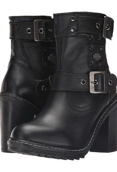 Harley-Davidson Ludwell (Black) Women's Pull-on Boots - Harley-Davidson, Ludwell, D83831, Footwear Boot Casual Pull-on, Casual Pull-on, Boot, Footwear, Shoes, Gift, - Fashion Ideas To Inspire