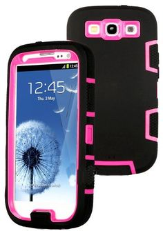 myLife Black and Hot Pink - Classic Robot Armor Series (3 Piece Neo Hybrid Flexi Case + Urban Body Armor Glove) Case for Samsung Galaxy S3 GT-i9300 and GT-i9305 Touch Phone (Thick Silicone Outer Gel + Tough Rubberized Internal Shell) myLife Brand Products http://www.amazon.com/dp/B00JH253MM/ref=cm_sw_r_pi_dp_77kdub1FT8G3H