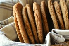 Chewy Ginger Cookies by thefiewfromgreatisland #Cookies #Ginger.  Very much like Molasses Crinkles that Gary's mom used to make.  So good.