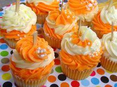 orange dreamsicle cupcake