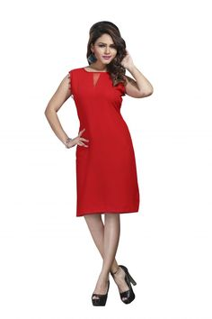 Viva N Diva Presents Gorgeous Party Wear Kurti Collection, This Lovely Red Colored Kurti Is Fabricated In Georgette Which Makes It An Ultimate Design For Summers. http://www.addsharesale.com/