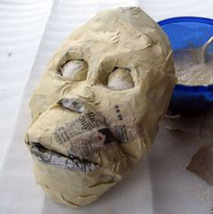 Paper Mache Mask, pinning this because it looks perty easy and would be a good project for the boy and i...
