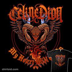 Celine Dion metal | Shirtoid #celinedion #deathmetal #gomskyartstudio #heavymetal #music