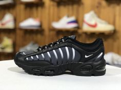 08e9eb4a55 Buy Men's Nike Air Max Tailwind IV 4 All Black Trainers AQ2567-001 Online