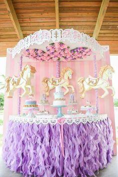 @AranzaDrive ❁ Carousel Birthday Parties, Carnival Birthday, Unicorn Birthday Parties, Unicorn Party, Baby Birthday, First Birthday Parties, Birthday Decorations, Birthday Party Themes, First Birthdays