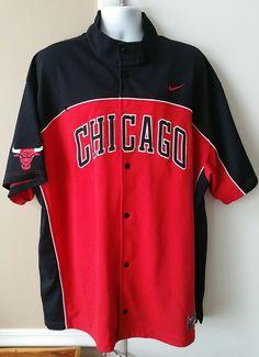 7b224feb629 Chicago Bulls Team Nike Button Down Warm Up Shooting Jersey Shirt Men's 3XL  XXXL | Sports