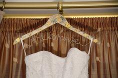 My lovely wedding dress Yellow Wedding, Clothes Hanger, Wedding Dresses, Coat Hanger, Bride Dresses, Bridal Gowns, Clothes Hangers, Weeding Dresses, Wedding Dressses