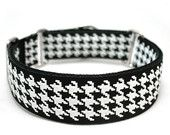 """Etsy - 1.5"""" dog collar Hounds Tooth buckle or martingale collar"""