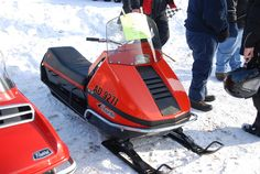 Vintage Snowmobiles at Tip-Up Town, Houghton Lake, MI 1-21-2012 by Corvair Owner, via Flickr
