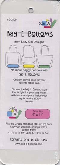 """BAG-E-BOTTOMS - SIZE A 4"""" X 11-1/2"""""""