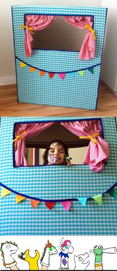 O potencial do papelão - Teatro de fantoches Kids Crafts, Craft Activities For Kids, Projects For Kids, Diy For Kids, Diy And Crafts, Diy Quiet Book, Cardboard Toys, Kids Church, Classroom Decor