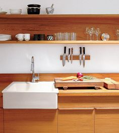 """Chicago magazine says: """"GOING WITH THE GRAIN: Wild for the way wood countertops can make a kitchen more warmly appealing?  We help you sort through the options"""""""